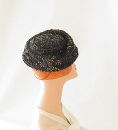 1960s tilt hat vintage beaded Carson Pirie by TheVintageHatShop, $60.00
