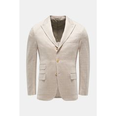 Jersey-Sakko beige/weiß kariert Spring And Fall, Spring Outfits, Blazer, Clothing, Jackets, Women, Fashion, Linen Fabric, Cotton