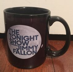 The Tonight Show starring Jimmy Fallon Coffee Tea Cup Mug Navy Blue Full Moon | eBay