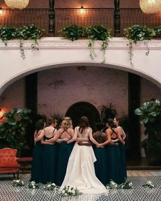 Our bride and her ladies right before I Do. #regram @lovebyhailley || Planner: @atyourdoorevents | Photography: @lovebyhailley | Venue: @ebelloflb | Florals: @knotjustflowers