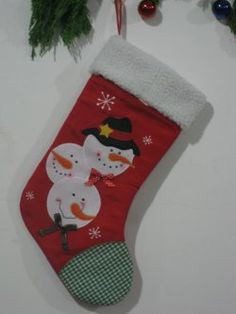 Christmas stockings ( brown cartoon picture stitching )