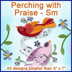 A Perching with Praise Design Pack -This would make a great quilt.