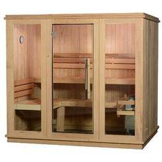 Almost Heaven Saunas LLC Bridgeport Cedar 6 Person Traditional Steam Sauna Heater Type: KIP Electric Heater Sauna Heater, Dry Sauna, Steam Sauna, Indoor Sauna, Barrel Sauna, Traditional Saunas, Portable Sauna, Finnish Sauna, Sauna Room