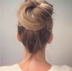 Today we show you how to style the loose top bun.Step 1 & 2:  Step 3 & 4:  Step 5 & 6:  Step 7 & 8:  Step 9:  The final look: