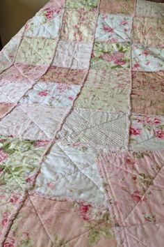 Rag quilt. I love the vintage pattern!