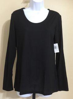 Weatherproof 32 Degrees Heat Women's Black Sheer Long Sleeve Blouse Size XL NWT…
