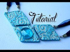 Ice Blue Diamond Tile Polymer Clay Necklace/Pendant Tutorial | Velvetorium | 軟陶, Arcilla Polimérica - YouTube