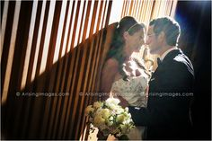 Unique lighting, gorgeous shot of this couple.