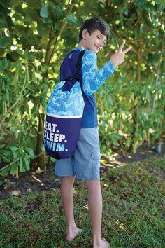 WATERPROOF DRY BAG & RASH GUARD SWIM TEE from Juice Box by DM Merchandising Rash Guard, Vera Bradley Backpack, Juice, Swimming, Tees, Box, Fashion, Swim, Moda