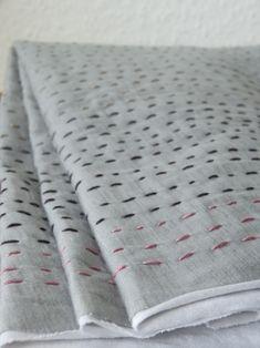 Gorgeous Ombre Sashiko Scarf by Ute #embroidery #sashiko #ombre