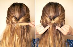 Hey divas, I have a great hair tutorial for you today. It is a post called DIY! Your Step-by-Step for the Best Cute Hairstyles. Pretty Hairstyles, Cute Hairstyles, Straight Hairstyles, Creative Hairstyles, Updo Hairstyle, Hair Bow Tutorial, Great Hair, Hair Dos, Hair Designs