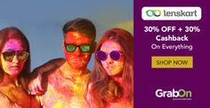 HOLI Carnival Sale. Make Room In Yours! #Lenskart Extra Offers 30% Off + 30% #Cashback. http://www.grabon.in/lenskart-coupons/