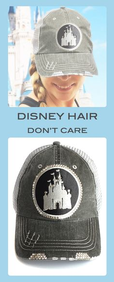 c0c19612 The perfect compliment to your Disney outfit. Women's Disney castle  baseball hat embellished with over