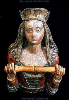 Frau       Dieses Bild: 002277      Kunstwerk: Schnitzarbeit-Holz ; Möbel ; Handtuchhalter ; Salzburg   Dokumentation: 1500 ; 1525 ; Salzburg ; Österreich ; Salzburg ; Salzburg Museum ; IN 88-34