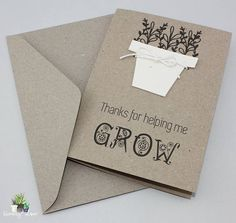*****CHRISTMAS ORDERS CLOSE 5PM WEDNESDAY 13 DECEMBER!!!! Our handmade seed paper greeting cards are the perfect way to show your appreciation to teachers, carers, tutors and other school staff. Give a card that grows a plant! The card includes a seed paper shaped pot that is attached