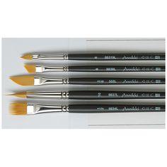 kalligrafie-set mit 5 pinseln