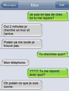 Read SMS from the story Juste Pour Rire by Maliombe with 41 reads. Funny Sms, Funny Messages, Funny Texts, Funny Jokes, 9gag Funny, Memes Humor, Lol, Funny Images, Funny Pictures