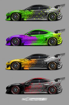 Abstract Car Wrap Designs - New Ideas Cool Sports Cars, Sport Cars, Cool Cars, Race Cars, Car Stickers, Car Decals, Poster Cars, Design Autos, Racing Car Design