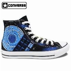 [ $29 OFF ] Doctor Who Tardis Converse All Star Womens Mens Shoes Hand Painted Canvas Skateboarding Shoes Man Woman Sneakers Birthday Gifts