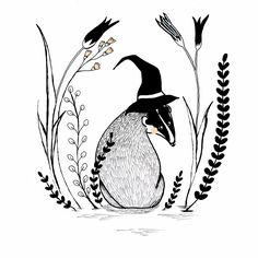 Learn To Draw, Cute Animals, Ink, Learning, Drawings, Illustration, Badger, Camping, Paintings