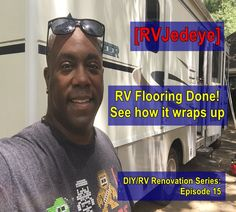 """Holy Flooring it's done RVJedeye!"" That's right my friends. The floors are done, see how it all comes together in the, Mobile!"" I think Catwoman might even say it looks, ""Purrrrrrrrfect! My Friend, Friends, News 2, Catwoman, Floors, Rv, Sayings, Amigos, Home Tiles"