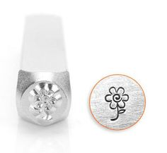 ImpressArt Metal Design Stamp, 6mm Flower Floral Design Jewelry Leather Wood PMC by Fishlips3 on Etsy