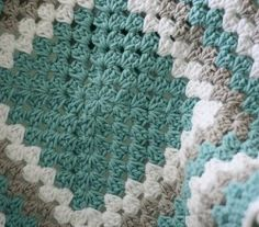 Granny Square Baby Blanket by Lauren Brown
