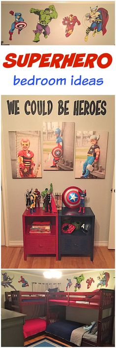 nice Boys Superhero Bedroom | The BakerMama by http://www.best-home-decorpictures.us/boy-bedrooms/boys-superhero-bedroom-the-bakermama/