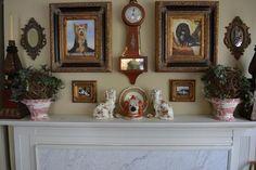 vintage Staffordshire Black Spaniel Dog Head Jar Canister Figurine  - English Country Decor
