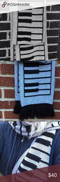 ORIGINAL 80s keyboard scarf! 1980s keyboard scarf. Warm, thick and SUPER long. This scarf is amazing. I almost don't want to part with it. It has been part of the family for 30 years! Must go to a loving home  Accessories Scarves & Wraps