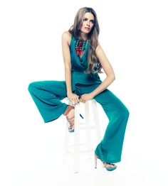 Great jumpsuit and oh so pretty colors  Stana Katic