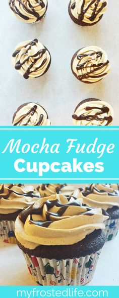 Mocha Fudge Cupcakes are any chocolate or coffee lovers dream!