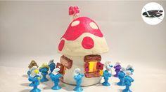 Mini smerfowy domek z glinki - Pomysły plastyczne dla każdego