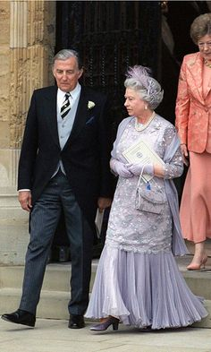 Royal weddings: Prince Edward and Sophie, Countess of Wessex - Queen Elizabeth w/ Sophie's father