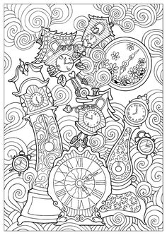 Coloring Book Art, Cute Coloring Pages, Mandala Coloring, Coloring Sheets, Printable Adult Coloring Pages, Colorful Drawings, Painting, Current Time, Online Coloring