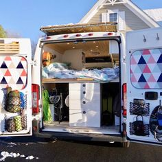 Our favorite custom DIY Dodge ProMaster camper conversions. Get design and layout ideas from full time van lifers. Ford Transit Conversion, Van Conversion Interior, Camper Van Conversion Diy, Sprinter Conversion, Dodge Camper Van, Van Living, Living Area, Add A Bathroom, Bathroom Ideas