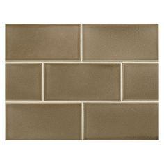 "Slate Brown also comes in 2 x 4"" Complete Tile Collection Vermeere Ceramic Tile - Slate Brown - Crackle, 3"" x 6"" Manhattan Ceramic Subway Tile, MI#: 199-C1-311-981,"