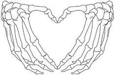 Skeleton Heart Hands design (UT15111) from UrbanThreads