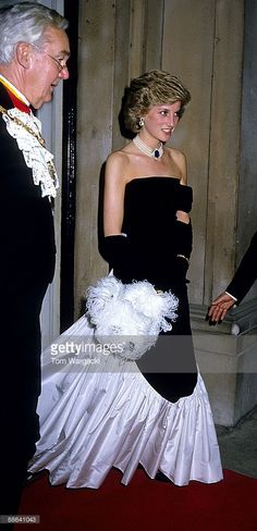 Princess Diana at Worshipfull Company of Fanmakers Banquet, Mansion House December 1985