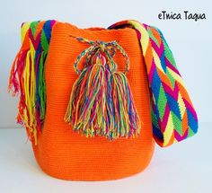 Mochila Wayuu Orange Citrique - Fluor !!!