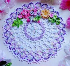 New hand crochet doily