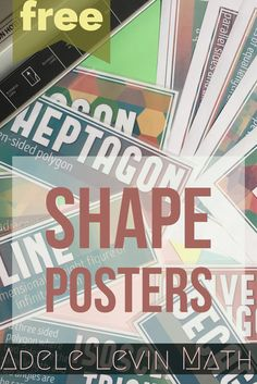 FREE Math Shape Posters to reinforce key terms and brighten up your classroom