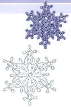 81 crochet snowflake pattern and inspiration ideas – Snowflakes Worldaniołki, gwiazdki i inne na Stylowi.Motiver for hekle applikasjonerTecendo Artes em Crochet: Flores - created on Frozen Lotus Decorative Free C - a grouped images picture - Pin T Crochet Snowflake Pattern, Christmas Crochet Patterns, Holiday Crochet, Crochet Snowflakes, Doily Patterns, Christmas Knitting, Christmas Snowflakes, Christmas Star, Knitting Patterns