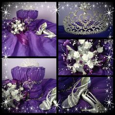 love the idea of this pic. a collage for her quinceanera gown shoes, flowers and tiara. Just sat it on her bed, stuffed it with pillows and snapped pictures. Quinceanera Tiaras, Quinceanera Party, Quinceanera Dresses, Quince Pictures, Prom Photos, Sweet 15, Prom Girl, Girls Dream, Every Girl