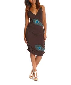 Loving this Coffee Peacock Bella Organic Dress - Women on #zulily! #zulilyfinds
