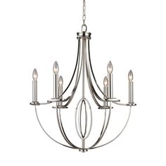 Shop for Elk Lighting Dione 6-light Polished Nickel Chandelier. Get free shipping at Overstock.com - Your Online Home Decor Outlet Store! Get 5% in rewards with Club O!