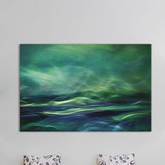 'Northern Lights' by Willy Marthinussen Graphic Art on Wrapped Canvas