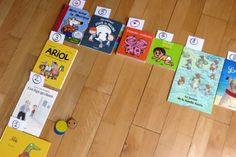 """jouer avec des livres: un """"jeu de l'oie"""" avec les histoires de la classe Monopoly, Montessori, Animation, Activities, Learning, Games, Jouer, School, Albums"""