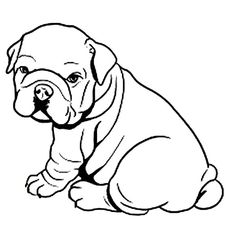 french bulldog puppy coloring page for kids animal coloring pages