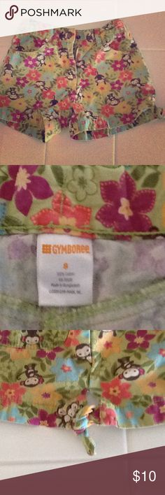 Shorts Adorable Gymboree monkey print shorts for your little monkey! Cute tie detail on the leg opening. Perfect for warm autumn days ahead! Gymboree Bottoms Shorts